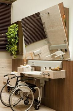The Sleek and Stylish Wet Rooms for a Trendy Look! Ada Bathroom, Handicap Bathroom, Handicap Toilet, Handicap Accessible Home, Public Bathrooms, Elderly Home, Wet Rooms, Wheelchair Accessories, House Design