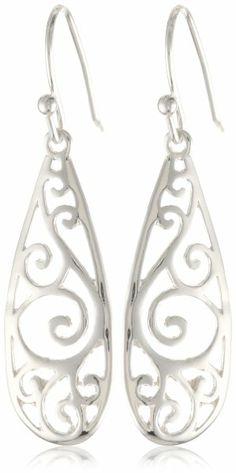 Sterling Silver Filigree Teardrop Earrings:Amazon:Jewelry