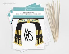 Such a great school activity! Egyptian themed photo booth prop kit from paperandcake.com