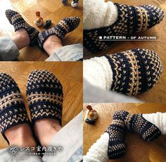 tunisian crochet room shoes