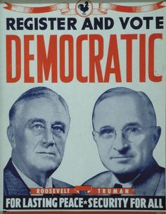 FDR won his 4th term in 1944, by defeating Thomas Dewey of NY.  His Vice President was Harry Truman. FDR died during this term of office and Truman became President.