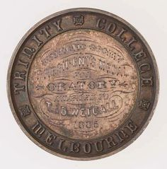 Medal - Trinity College, University of Melbourne,1885 AD