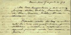 Trechos da carta de Luís Carlos Prestes recusando-se a participar do movimento revolucionário, 1929. Buenos Aires. (CPDOC/PEB 1929.06.19)