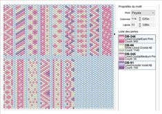2 Colour Carrier Bead Patterns, Odd Count Peyote, Two-Colour Patterns, Full Word Charts, Red and White Peyote Stitch Patterns, Beading Patterns Free, Bead Loom Patterns, Word Patterns, Alpha Patterns, Beading Projects, Beading Tutorials, Peyote Beading, Tear