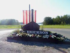 The viking ship of Erickson, Manitoba, Canada. Canada Tourism, O Canada, Viking Ship, Roadside Attractions, Travel List, Nova Scotia, Travel Essentials, Monuments, Places To See
