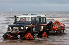 Land Rover Defender on Trax