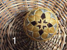 Dekorácie - vianočné patchworkové gule zlato-hnedé - 7147300_