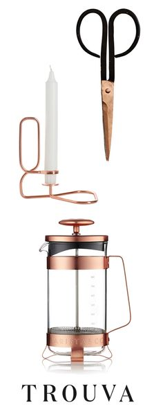 At Trouva we source products for the home from small independent boutiques across the UK. Which means you shop with us you aren't just guaranteed high quality hard to find items, but that you'll also be supporting  small British businesses.   Shop our Copper Edit.  Fast Free Shipping Over £50 on all orders.