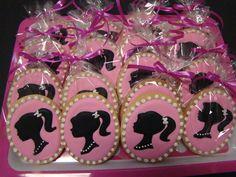 Barbie sugar cookie party favors by CookieCheers on Etsy, $30.00
