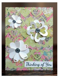 Ask me how to make these fun flowers with the Double Heart Border Maker!