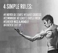 4 simple fitness rules  #Fitness #diet #weightloss #burnfat #bestdiet #loseweight #diets