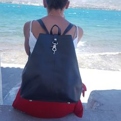 #new #entry #black #leather #backpack