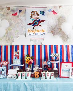 Airplane Party Decorations Airplane Birthday Airplane Party