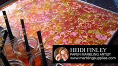 paper marbling with acrylic paints
