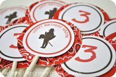 Cowgirl Cupcake Toppers by TheGreenGrassGrows on Etsy, $18.00