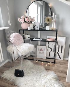 fashion, pink lips DIY Makeup Room Ideas, Organizer, Storage and Decorating Glam Bedroom, Girls Bedroom, Bedrooms, Fashion Bedroom, Bedroom Ideas, Fashion Decor, Design Bedroom, Rich Girl Bedroom, 1980s Bedroom