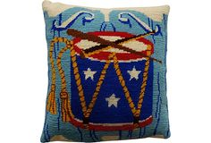 Needlepoint Drum Pillow on OneKingsLane.com
