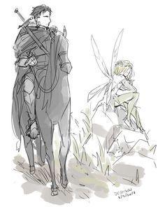 knight!Otabek/Fairy!Yuri