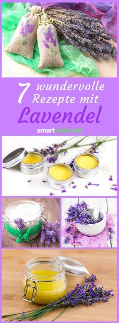 7 lavender recipes to preserve the flowers all year round - Lavender is one of the most versatile garden herbs. Use it for example for great desserts, natural cosmetics or as a fragrant remedy for mosquitoes. Year Round Flowers, Belleza Diy, Tolle Desserts, Lavender Recipes, Growing Lavender, Homemade Cosmetics, Great Desserts, Natural Cosmetics, Handmade Soaps