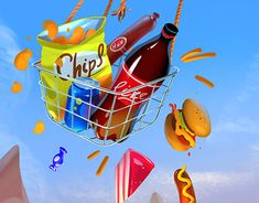 "Check out new work on my @Behance portfolio: ""Junk food"" http://be.net/gallery/61339769/Junk-food"