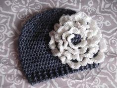 Big Flower Baby Hat.