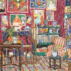 Paintings of different artist,s studios here. Damian Elwes 1960 | British painter | The Artist's Studio