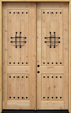 Door Clearance Center is your source for knotty alder wood doors! Hundreds in stock in Houston, Texas at discount prices. Brown Front Doors, Double Entry Doors, Front Entry, Interior Design Courses Online, Best Interior Design Websites, Front Door Paint Colors, Painted Front Doors, Glass Door Curtains, Knotty Alder Doors