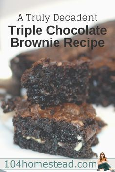 Every baker needs a good, reliable brownie recipe. I have found it - dark, rich, chewy, gooey and the best part is it does not use a block or two of chocolate.