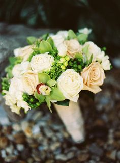 rose and orchid bouquet.