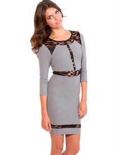 boutique flirt - Donna Mizani Lace Panel Dress Slate Grey, $185.00 (http://www.boutiqueflirt.com/donna-mizani-lace-panel-dress-slate-grey/)