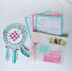 Color combo pink & turquoise - love it! <3  #snailmail #penpalling #letters #dreamcatcher #martinawinkel