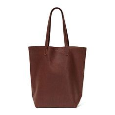 Basic Leather Tote Molasses, $160, now featured on Fab.