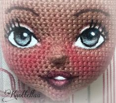 Crochet Dolls Free Patterns, Crochet Doll Pattern, Knitting Patterns, Doll Eyes, Doll Face, Crochet Eyes, Handmade Soft Toys, Fairy Crafts, Knitted Dolls