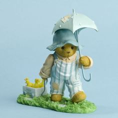 Cherished Teddies Figurine with Bear and Wagon full of Chicks, New, 4031519 #Figurine