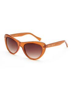 VINCE CAMUTO VC198 Brown Cat Eye Sunglasses