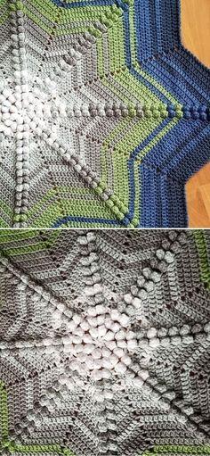 Unique Star Shaped Crochet Blanket - Pattern Center Crochet Blanket Patterns, Baby Blanket Crochet, Crochet Stitches, Crochet Baby, Free Crochet, Crochet Throws, Star Shape, Crochet Projects, Free Pattern
