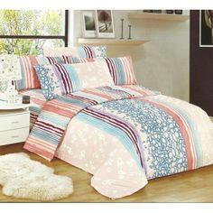 Farebné obliečky na posteľ s pruhovanými motívmi