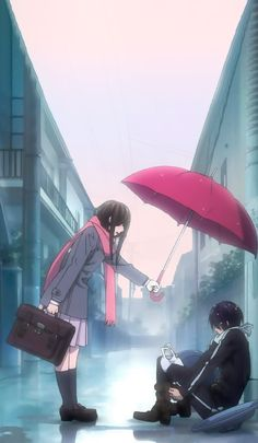 Anime: Noragami (Hiyori e Yato) Noragami Anime, Yatogami Noragami, Yato And Hiyori, Fanarts Anime, Haikyuu Anime, Kawaii Anime, Anime Chibi, Manga Anime, Wallpaper Animé