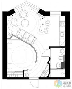 Фотографии [145544]: Перепланировка однокомнатных квартир, новостройки. от дизайнера Валерия Доронина
