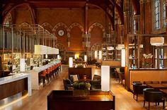 LONDON - The Booking Office. Awesome bar/lounge in Kings Cross/St. Pancras Station (where you'll take the Eurostar to Paris)...check it out at night