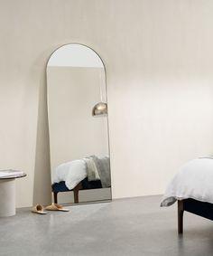Arles großer Spiegel (65 x 170 cm), Messing | MADE.com Big Floor Mirrors, Big Mirror In Bedroom, Oversized Floor Mirror, Mirror Room, Arch Mirror, Living Room Mirrors, Large Bedroom, Home Living Room, Master Bedroom