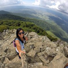 Oh my goodness I love my gopro haha!!! I need to seriously invest in the extension pole...... Hiking along Stony Man Trail at Shenandoah National Park. Did the 2 mile circuit crossing paths with the Appalachian Trail. Was amazing!!!
