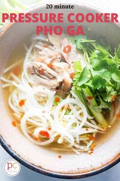 This Pho recipe for beginners is a cozy, feel good soup that is the perfect way to warm up on a cool autumn evening. #PressureCookingToday #InstantPot #instantpotpho #pressurecookerphoga