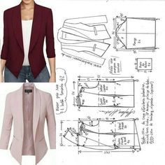 Sewing Patterns - Coat Patterns - Jacket Patterns - Bolero Pattern - Skirt Patterns - Blazer Pattern - Sewing Tutorials - Sewing E-book Coat Patterns, Dress Sewing Patterns, Sewing Patterns Free, Clothing Patterns, Blazer Pattern, Jacket Pattern, Collar Pattern, Costura Fashion, Sewing Blouses