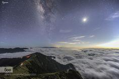 合歡山月光銀河雲海 ! by Syuan520 #nature