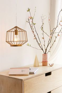 Nolfi Caged Bar Pendant Light | Urban Outfitters