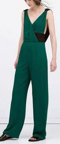 Women's fashion | Green jumpsuit