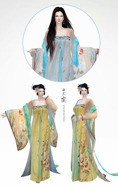 """+ HI, I am  lemonleaf  (  Sorry, I'm not good at English ) Our friend """" 清霜童子""""(Qing Shuang Tong Zi) made the dress  — Chinese classical costumes He is a very talented  for  SIMS CC makers ~ Holp you  like it !"""
