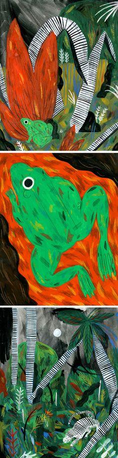 Painted animal art by Molly Fairhurst
