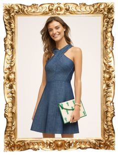 Eddi Denim Dress - $138